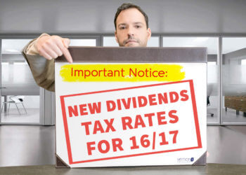 NEW DIVIDEND TAX RATES FOR 16/17